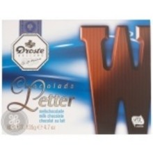 Droste Large W Milk Chocolate Letter - 4.7 OZ