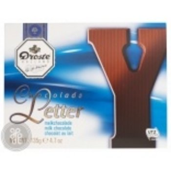 Droste Large Y Milk Chocolate Letter - 4.7 oz