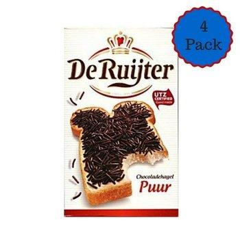 De Ruijter Dark Chocolate Sprinkles Hagelslag   - Four Box Pack