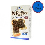 De Ruijter Milk Chocolate Sprinkles Hagelslag - Four Box pack