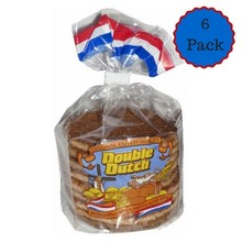 Double Dutch Stroopwafels 6 Pack - 6 packages of 8 cookies each