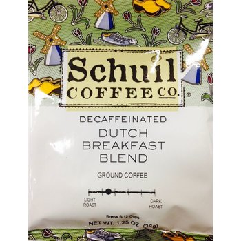 Schuil Dutch Breakfast Blend DECAF coffee packet - 1.25 oz Reg 1.29