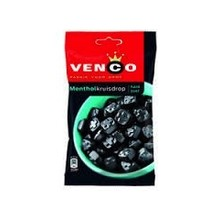 Venco Menthol Black Licorice - 6.1 Oz Bag