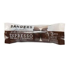 Sanders Milk Chocolate Espresso Sea Salt Caramels 3 pack - 1.5 Oz