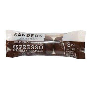 Sanders Milk Chocolate Espresso Sea Salt Caramels 3 pack - 1.5 Oz