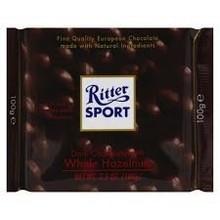 Ritter Dark Chocolate with whole hazelnuts - 3.5 oz bar