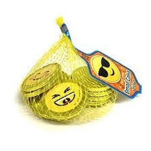 Fort Knox Chocolate Coins with Emojis - 2 Oz mesh bag