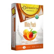 Davidsons DT White Peach Tea 8 ct