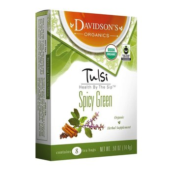 Davidsons DT Spicy Green Tulsi Tea 8Ct