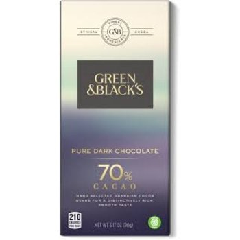 Green & Black Pure Dark Chocolate - 3.17 Oz Bar