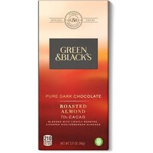 Green & Black Pure Dark Chocolate with Roasted Almond - 3.17 Oz Bar