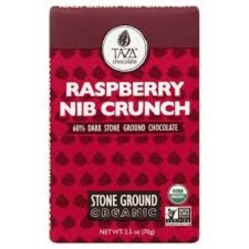 Taza Chocolate Rasberry Crunch Dark Chocolate - 2.5 Oz Bar