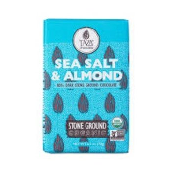 Taza Chocolate Sea Salt & Almond in Dark Chocolate - 2.5 Oz Bar