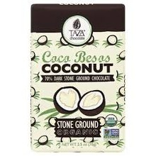 Taza Chocolate Coconut in 70% Dark Chocoalte - 2.5 Oz Bar