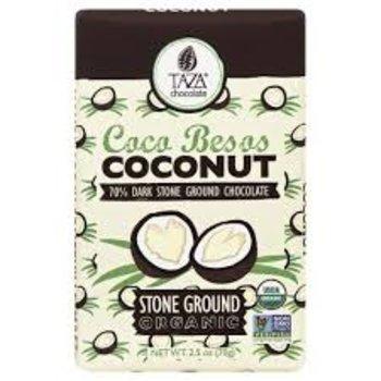 Taza Chocolate Coconut in 70% Dark Chocoalte - 2.5 Oz Bar