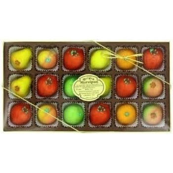 Bierman Marzipan gift box 18 assorted fruits - 8 Oz Special price $5.95