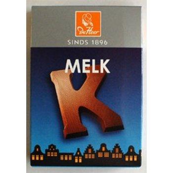 De Heer Milk K Small Letter - 2.27 OZ