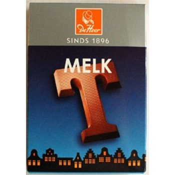 De Heer Milk T Small Letter - 2.3 oz