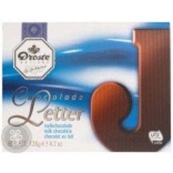 Droste Large J Milk Chocolate Letter - 4.7 OZ