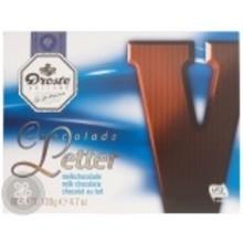 Droste Large V Milk Chocolate Letter - 4.7 OZ