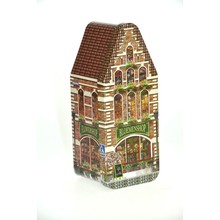 "Peters Bloemenhuisje - Flower shop House Tin - 7.2"" x 3"" x 2.9"" Empty Tin"