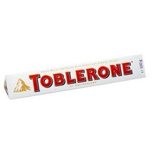 Toblerone Tobler White Chocolate Bar 3.5 Oz