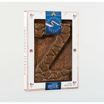 Dutch Letters Z Milk Chocolate Letter 4.7oz