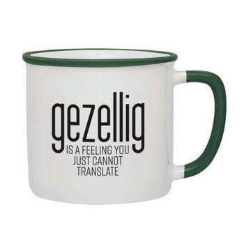 PGM Designs Gezellig is a feeling Coffee Mug - Green