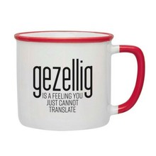 PGM Designs Gezellig is a feeling Coffee Mug - Red