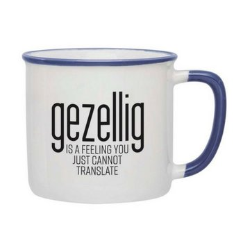 PGM Designs Gezellig is a feeling Coffee Mug - Blue
