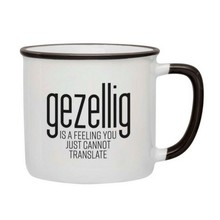 PGM Designs Gezellig is a feeling Coffee Mug - Black