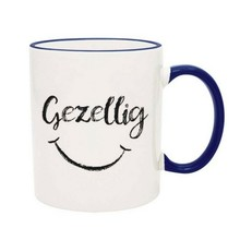 PGM Designs Gezellig Smiley Face Coffee Mug - Blue