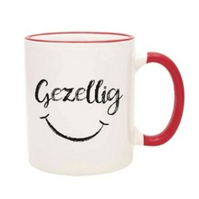 PGM Designs Gezellig Smiley Face Coffee Mug - Red