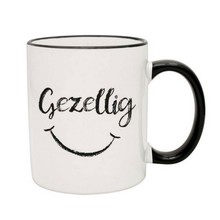 PGM Designs Gezellig Smiley Face Coffee Mug - Black