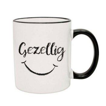 PGM Designs Gezellig Smiley Face Coffee Mug - Black