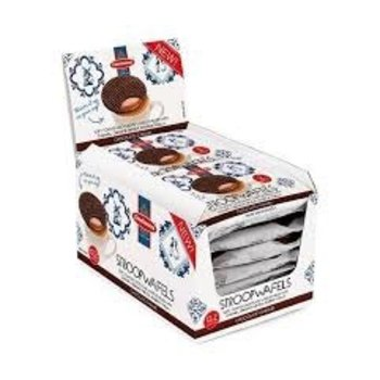 Daelmans Caramel Chocolate Wafer Cookies Duo Pack - 2.56 oz Box of 12