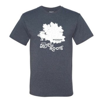 PGM Designs Michigan Grow with Dutch Roots T-shirt - Size 2XL Vintage Blue