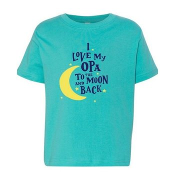 PGM Designs I Love My Opa to the Moon and Back T shirt 3T Caribbean