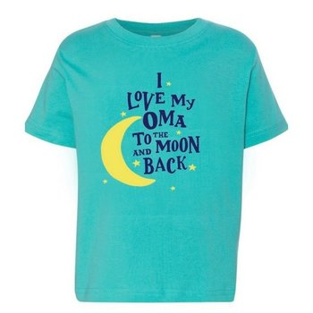 PGM Designs I Love My Oma to the Moon and Back T shirt 4T Caribbean
