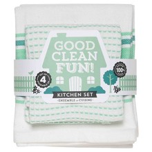 Now Designs Good Clean Fun Spearmint 4 Piece Towel Set