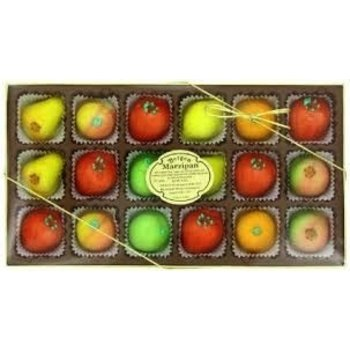 Deluxe Asst Fruit Marzipan Shapes Gift box 8 oz
