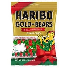 Haribo Christmas Bears 4 Oz - bag
