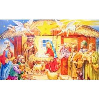 Wawi Religious Scene Advent Calendar 1.8oz box