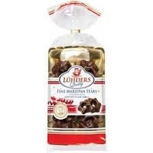 J Luehders Dark Chocolate Covered Marzipan Star Cookies 3.5 oz