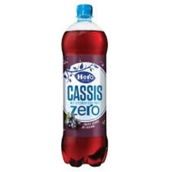 Hero Cassis Zero Black Currant Drink - 1.25 Liter plastic bottle