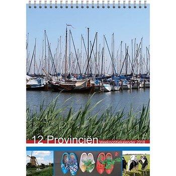 2018 Calendar weekly notation style 52 photos
