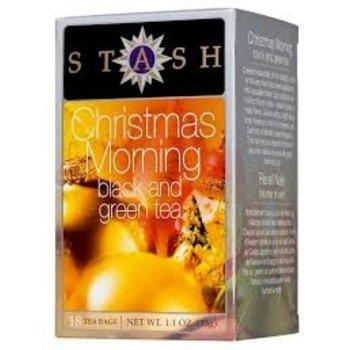 Stash Christmas Morning Black & Green Tea 18 ct