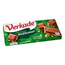 Verkade Milk Hazelnut Chocolate Bar 3.9 oz New Packaging & Size