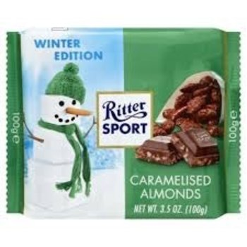 Ritter Milk Chocolate with Caramelised Almonds - 3.5 Oz bar