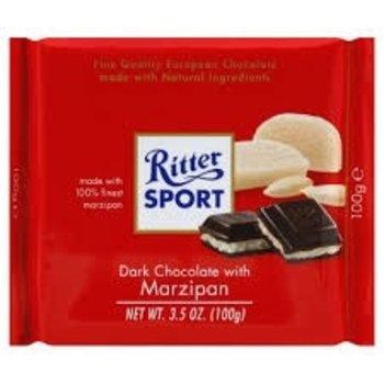 Ritter Dark Chocolate with Marzipan - 3.5 Oz bar